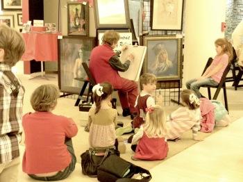 Rollina Oglesbay creating portraits