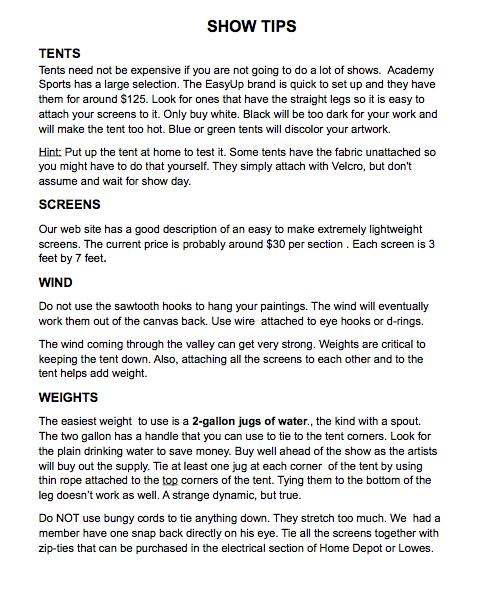 MBAA show tips pg 1