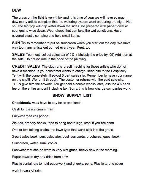 MBAA show tips pg. 2
