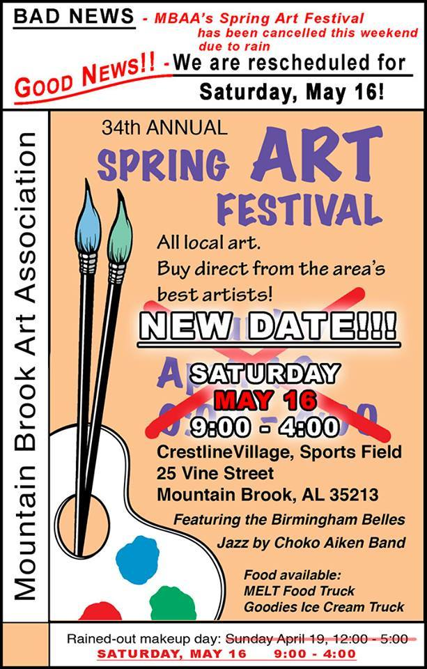 Mountain Brook Art Assoc NEW DATE