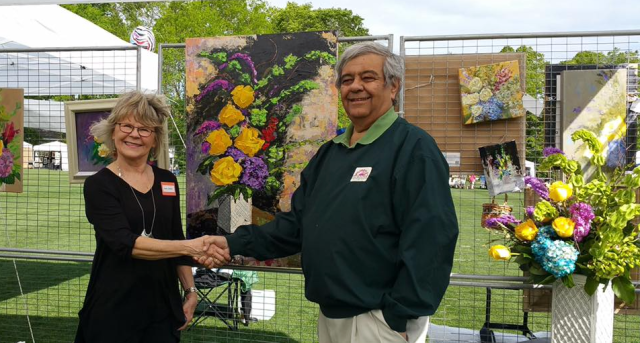 Winner of the 2016 Floral Competition, Mara Jambor!  Congratulations!